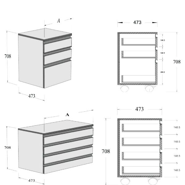 meuble tiroirs sidpa. Black Bedroom Furniture Sets. Home Design Ideas