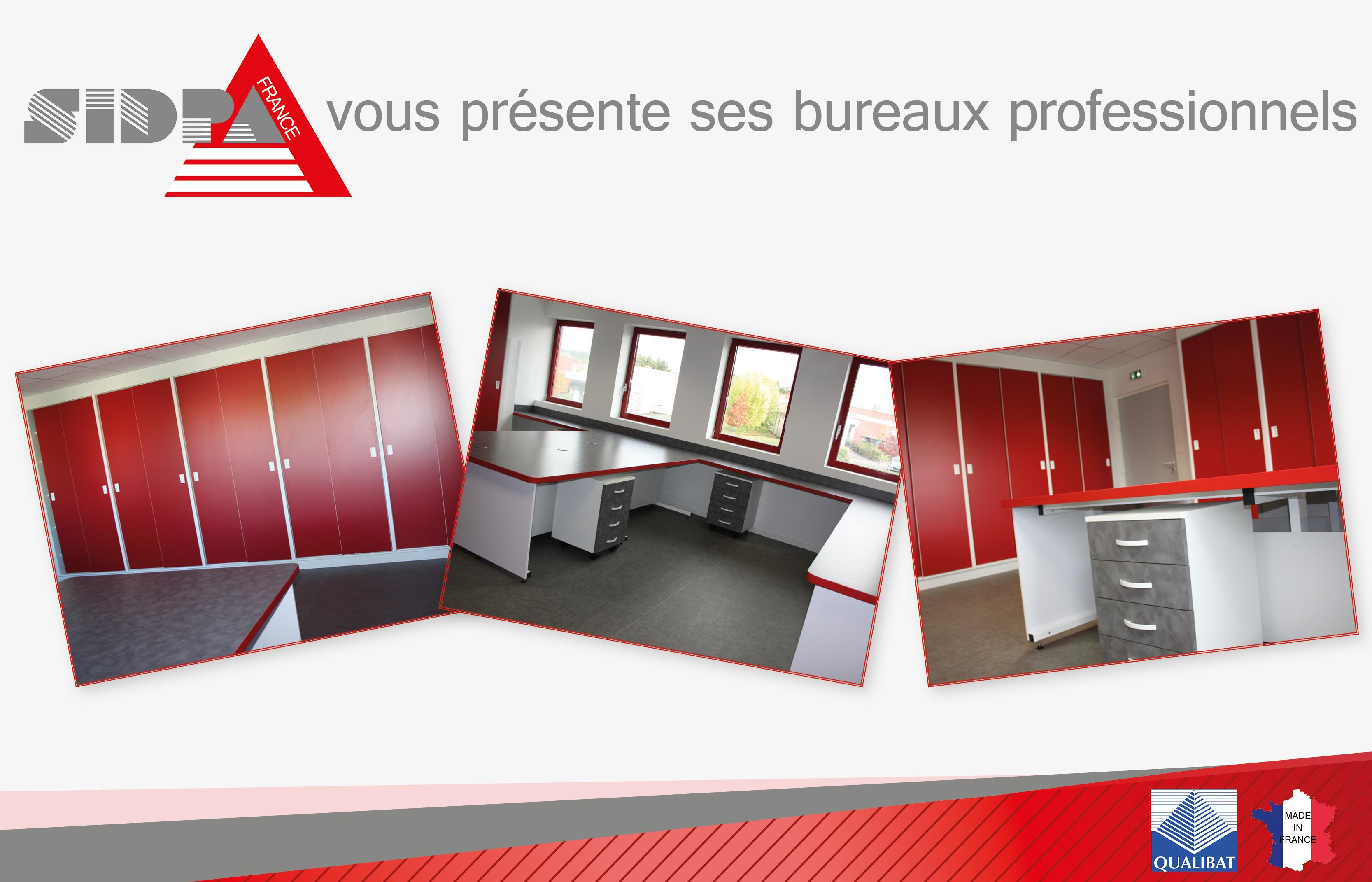 Fabrication et installation de vos bureaux professionnels sur mesure avec SIDPA FRANCE